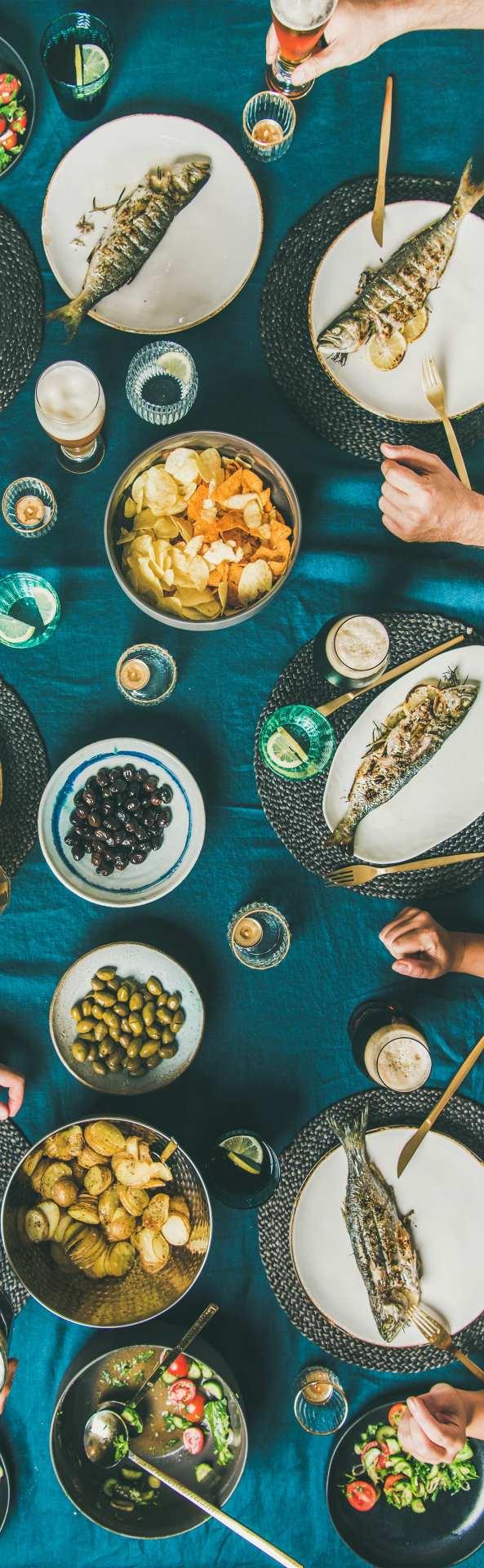 Pescado comida saludable