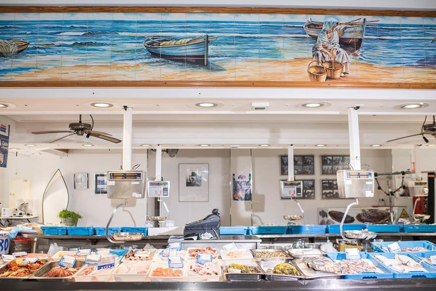 Mostrador de pescadería