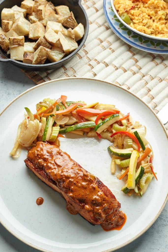 Dieta con trucha arcoiris