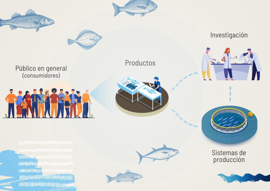 nivel de conocimiento del público en general acuicultura de españa